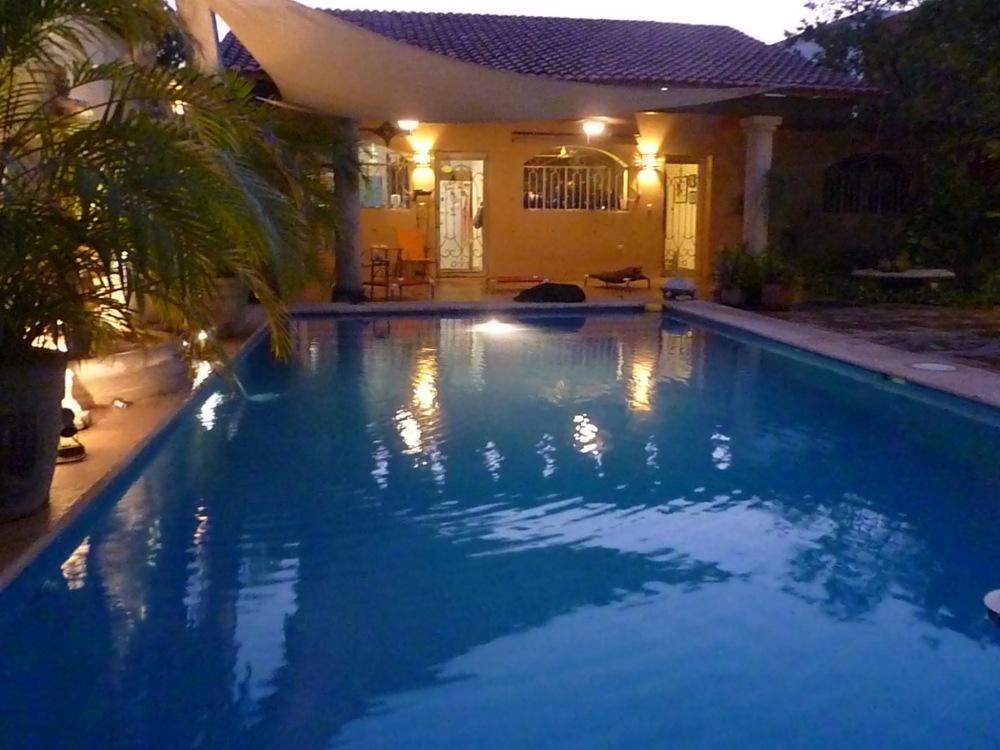 74. pool at dusk